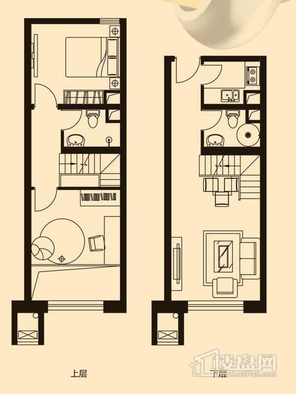 A4LOFT户型2室1厅2卫1厨