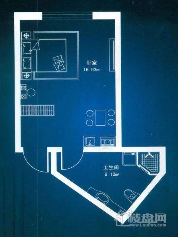 观澜宝邸户型图精装公寓B户