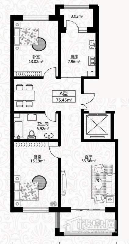 户型图10号楼2单元