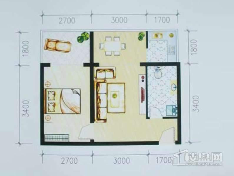 巧克力公寓户型图