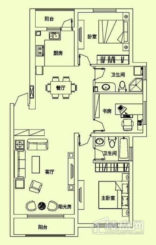 滨才城户型图I