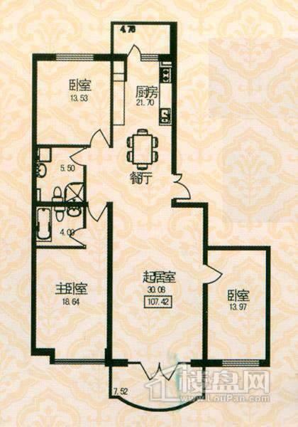 福宏名城户型图3室