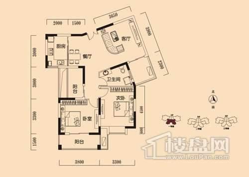 D户型 三室两厅