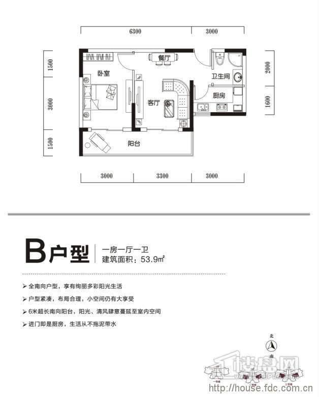 B户型 一室一厅