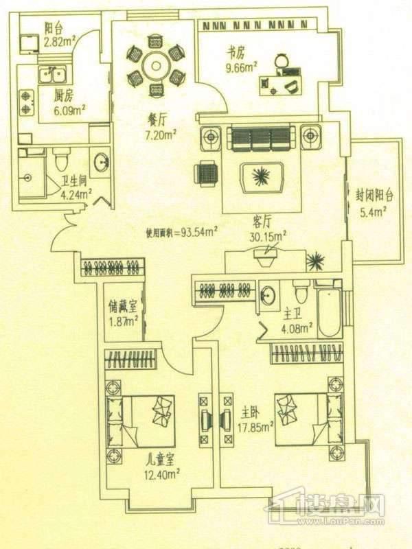 悦城户型三 3室2厅1