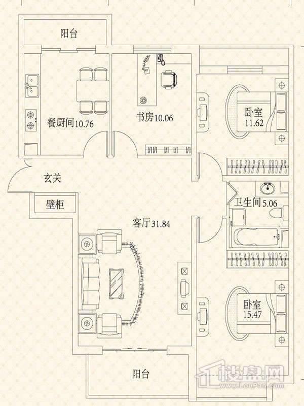 悦城G4-5号楼户型图