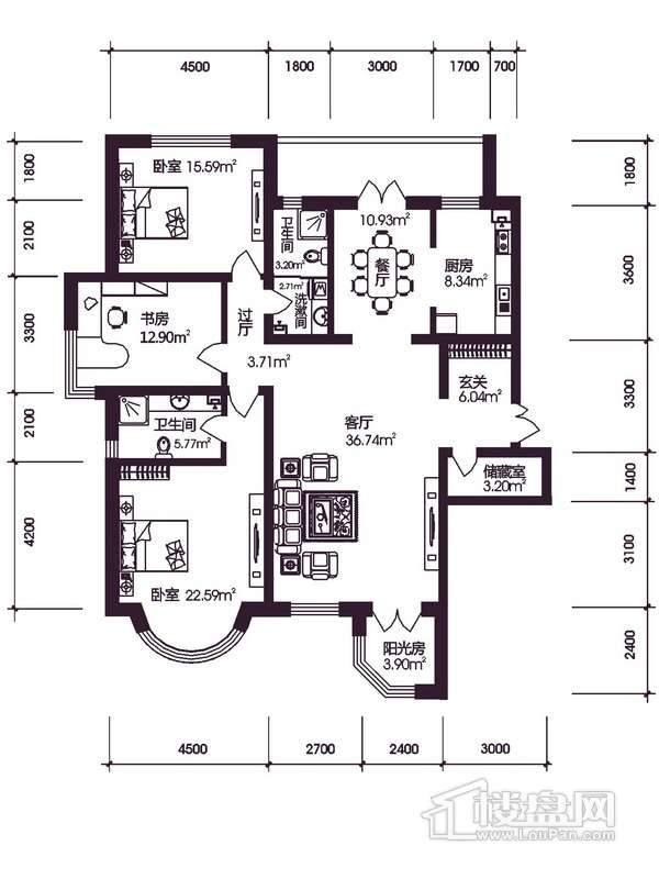 新新怡园2期户型图