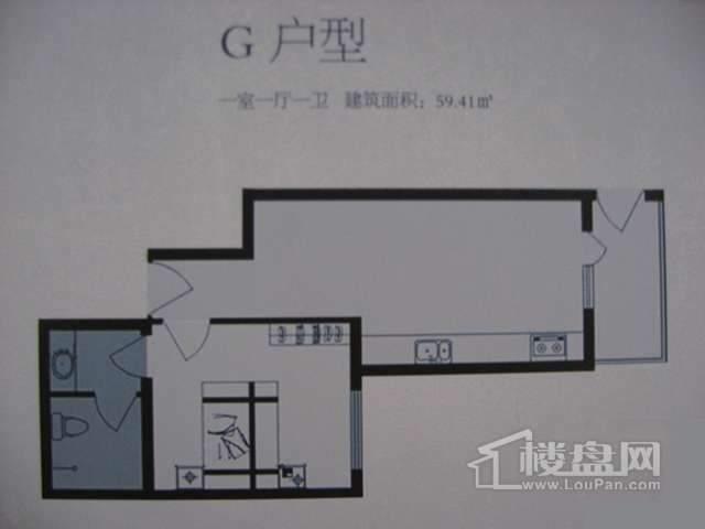 太行雅苑G户型1室1厅1卫1厨