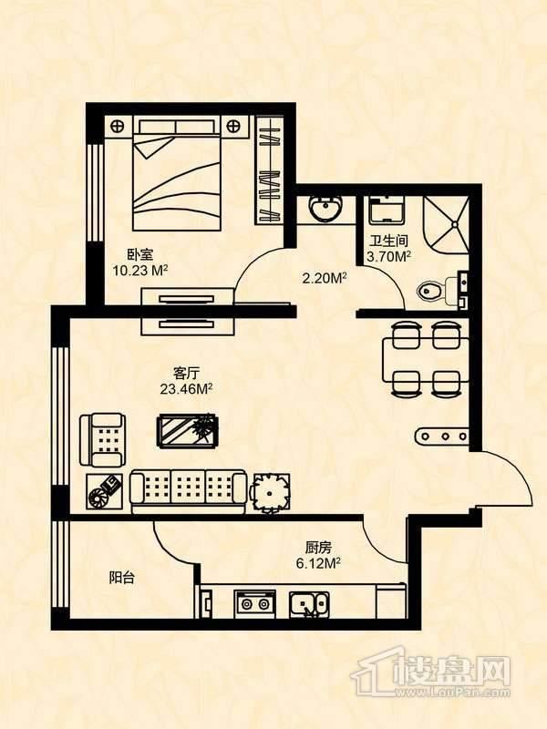 1室2厅1卫1厨