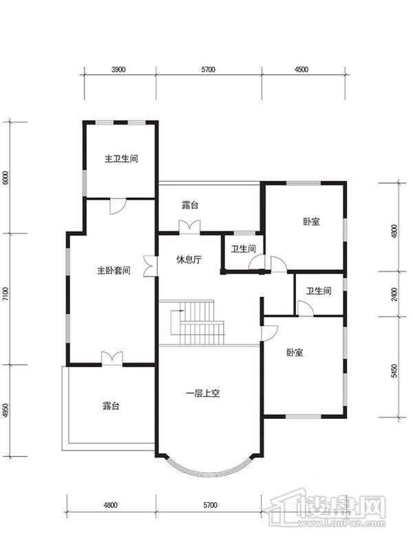 怡和庄园B二层平面图