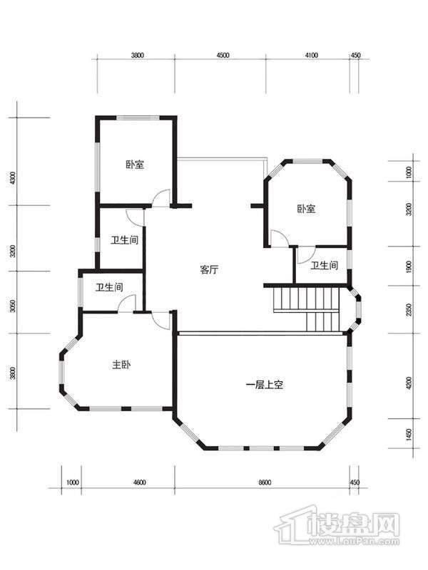 怡和庄园C二层平面图