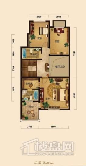 五矿正信榕园一期别墅3层e1户型3室2厅2卫1厨