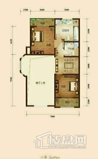 五矿正信榕园一期别墅a1户型2层3室2厅3卫1厨