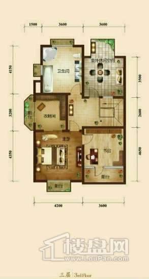 五矿正信榕园一期别墅a1户型3层3室2厅3卫1厨