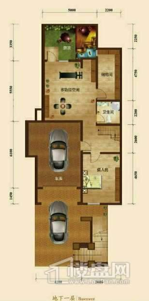 五矿正信榕园一期别墅a2户型地下1层3室2厅3卫1厨