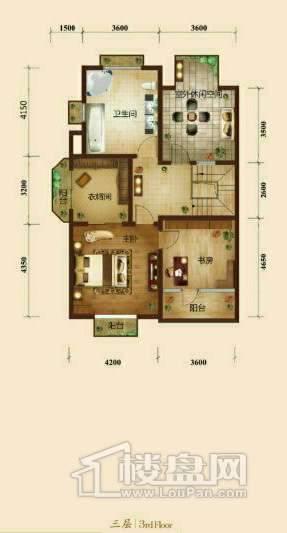 五矿正信榕园一期别墅a2户型3层3室2厅3卫1厨