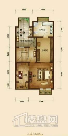 五矿正信榕园一期别墅b1户型3层3室2厅5卫1厨