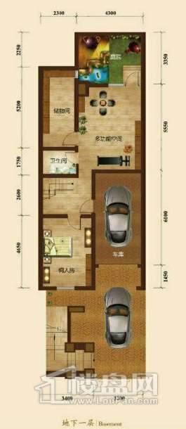 五矿正信榕园一期别墅b1户型地下1层3室2厅5卫1厨