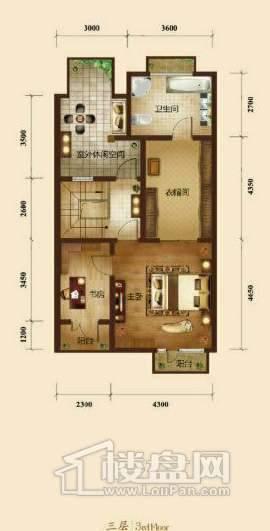 五矿正信榕园一期别墅b2户型3层3室2厅5卫1厨