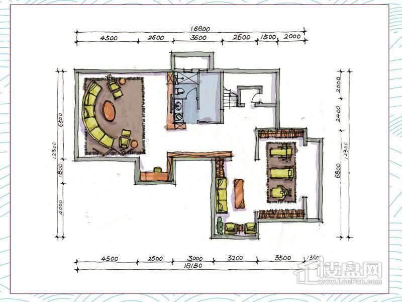 1期别墅A户型地下一层