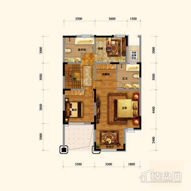 闲庭艺墅地上二层户型图