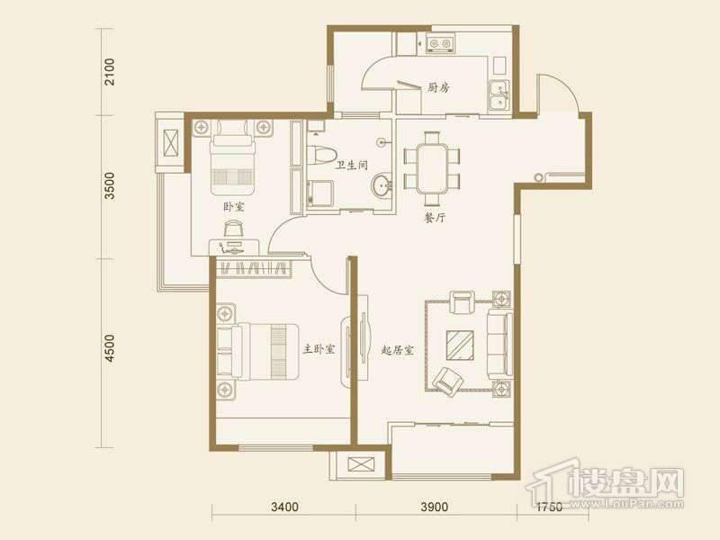 5、6号楼标准层B户型