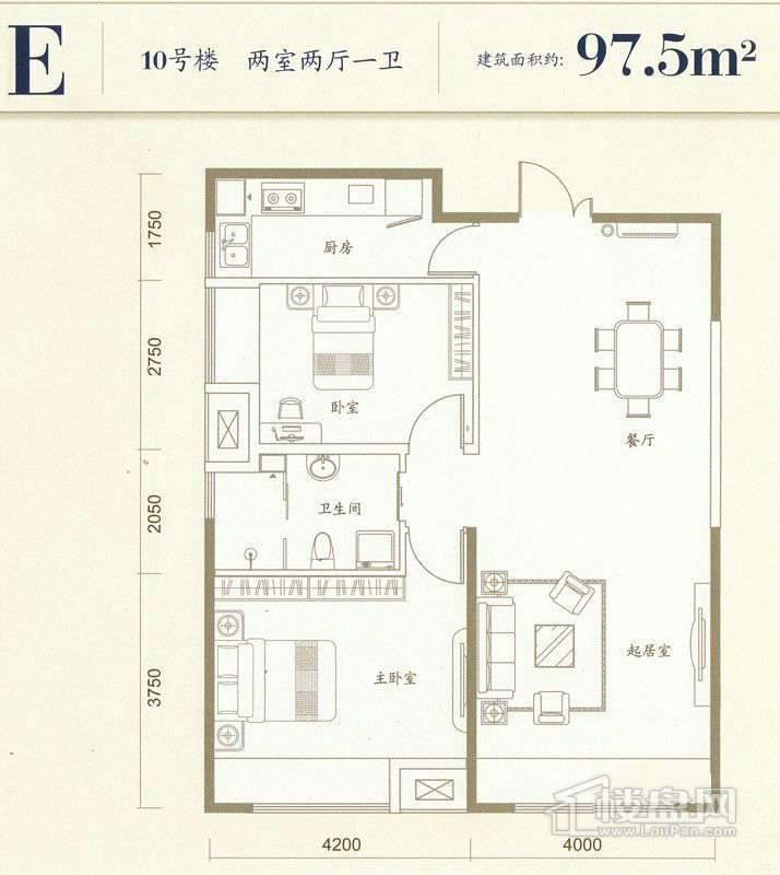 10号楼标准层E户型
