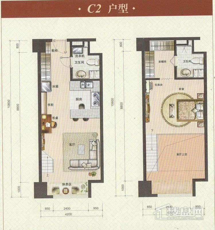 酒店式公寓标准层c2户型