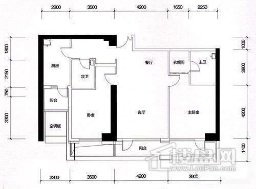 一期16、17#楼5-13层奇数层A02户型