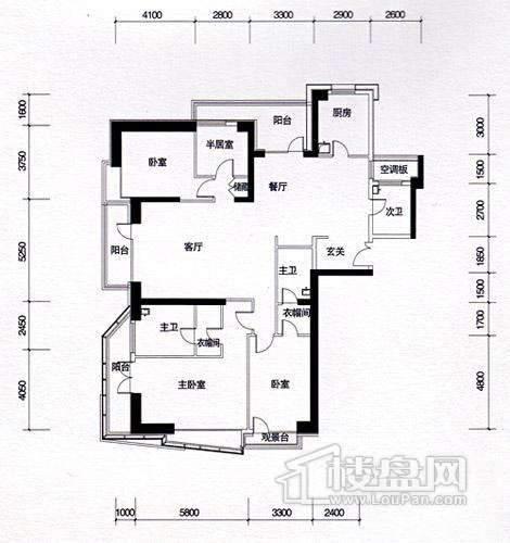 一期16、17#楼9-37层奇数层A01户型
