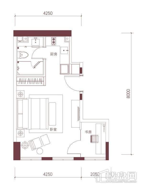 公寓标准层B2户型