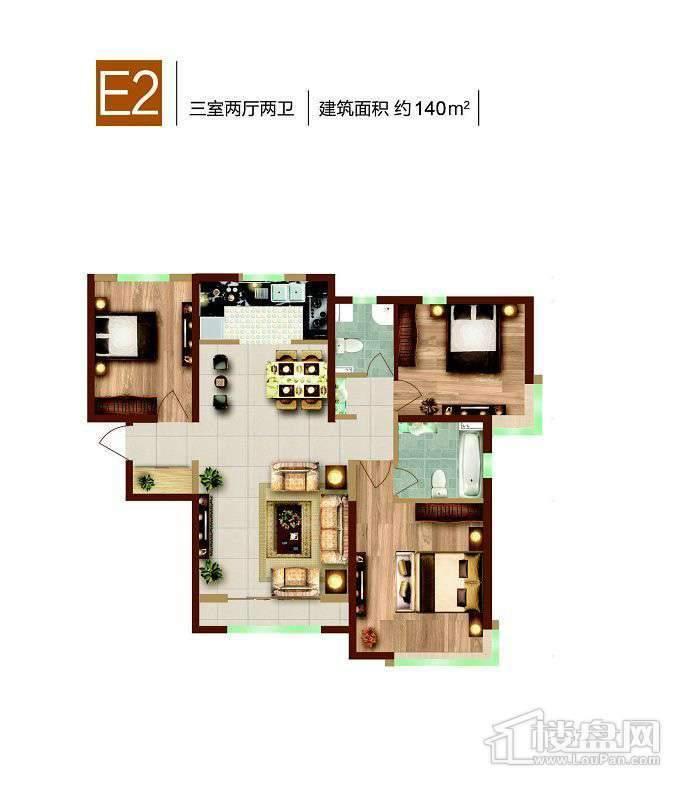 2号楼标准层E2户型