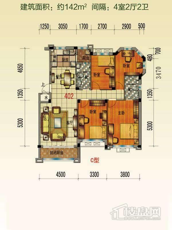 泊林组团花园洋房Q6户型