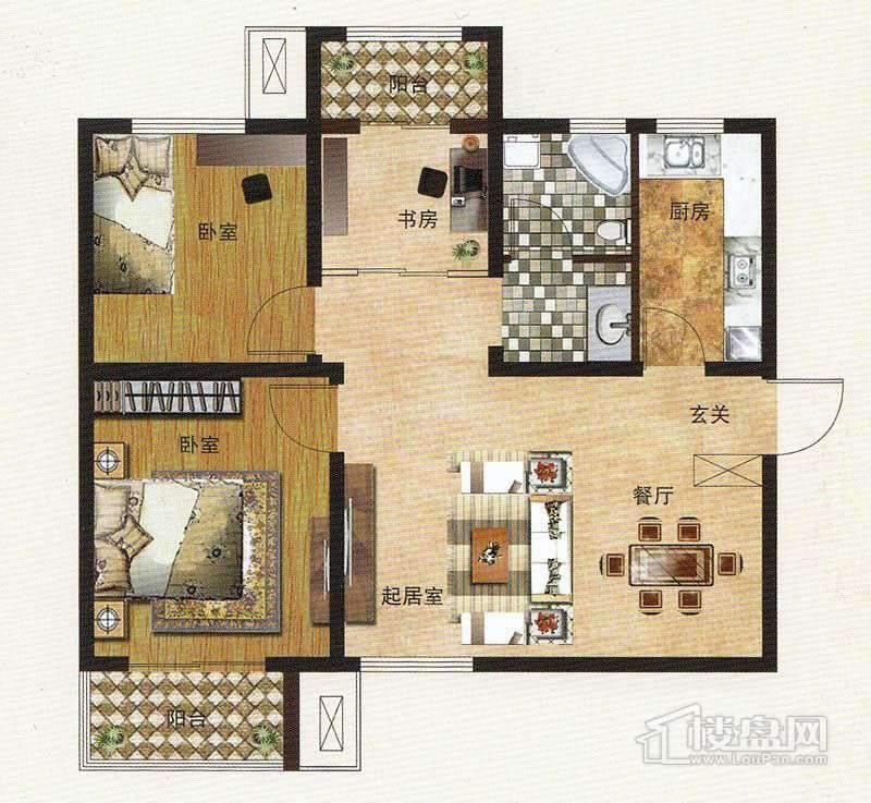 1期住宅标准层A户型