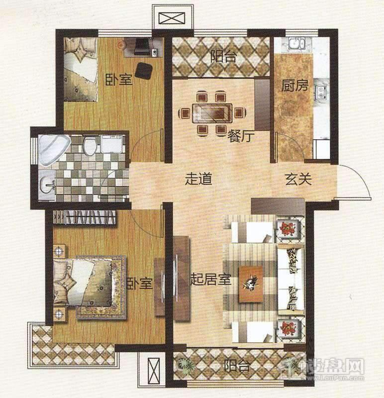 1期住宅标准层C户型