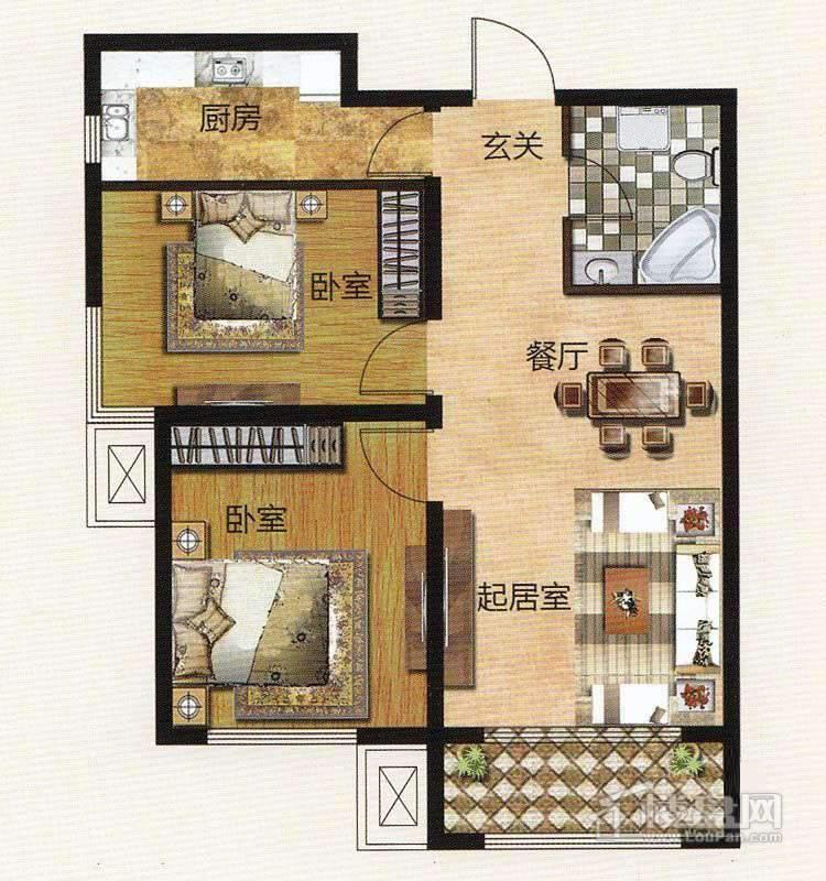1期住宅标准层D户型