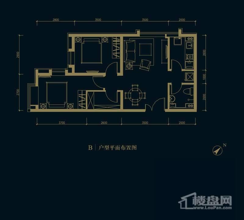 一期1、2、3#楼2-32层B户型