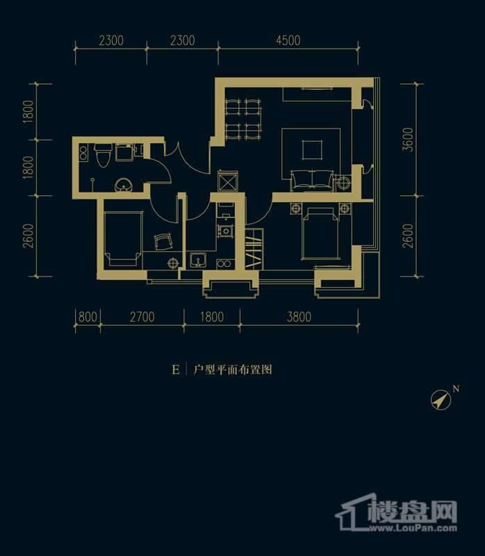 一期1、2、3#楼2-32层E户型