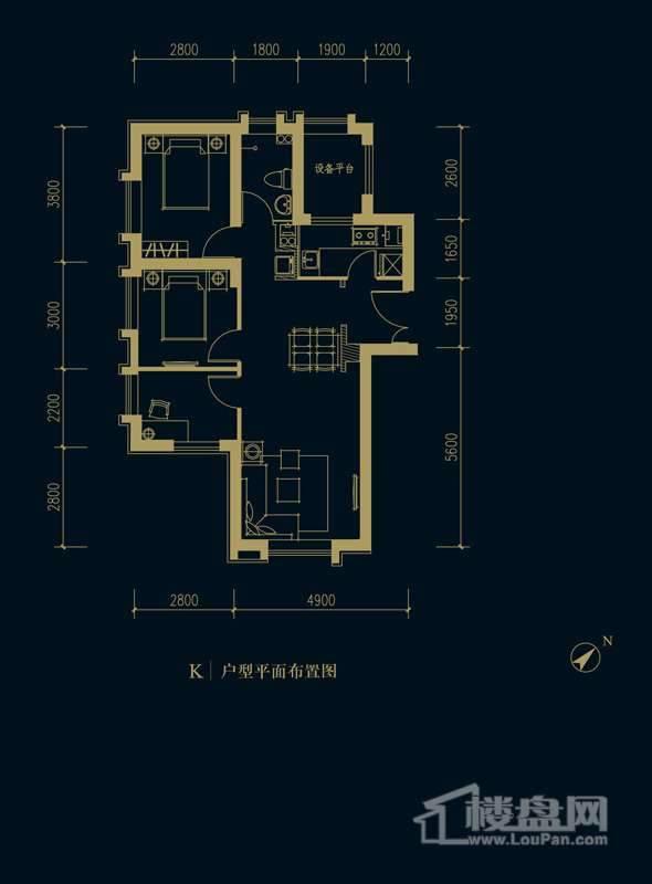 一期1、2、3#楼2-32层K户型