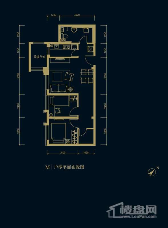 一期1、2、3#楼2-32层M户型