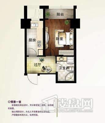 B-2户型1室1厅1卫