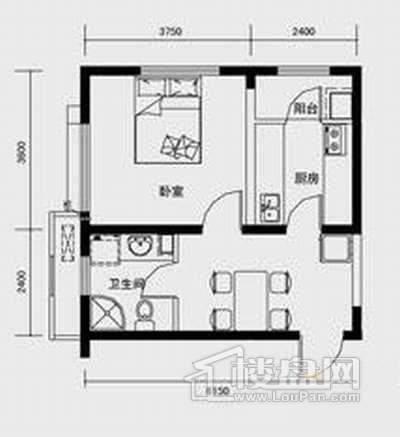 C1户型1室1厅1卫