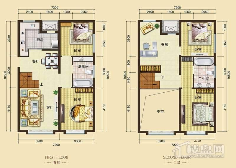 3号楼标准层L8户型4室2厅2卫