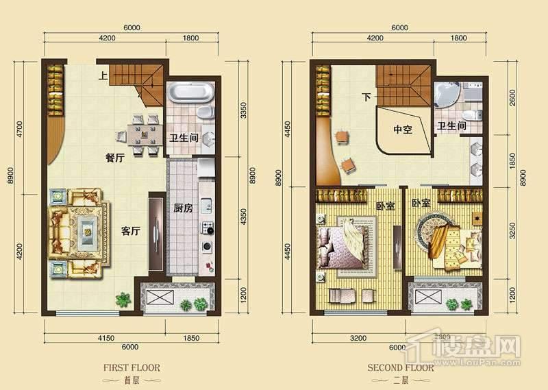 3号楼标准层L7户型2室2厅2卫