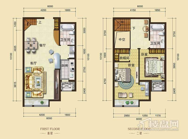3号楼标准层L5户型2室2厅2卫