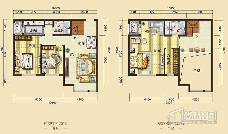 3号楼标准层L4户型3室2厅2卫