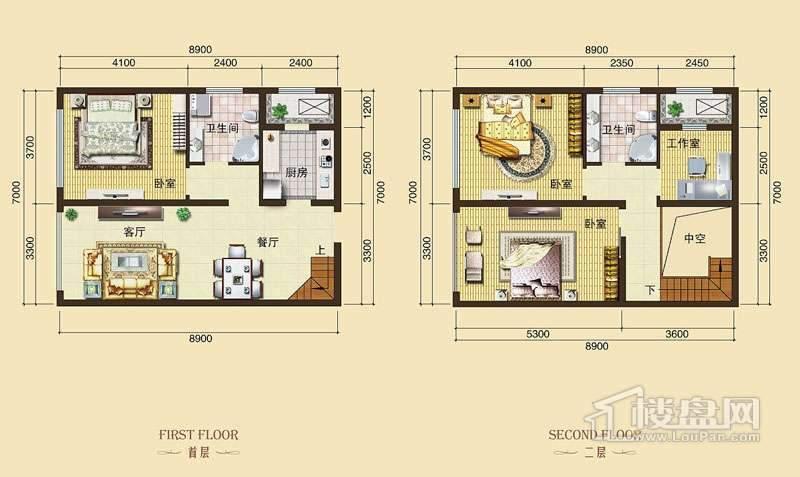 3号楼标准层L2户型4室2厅2卫