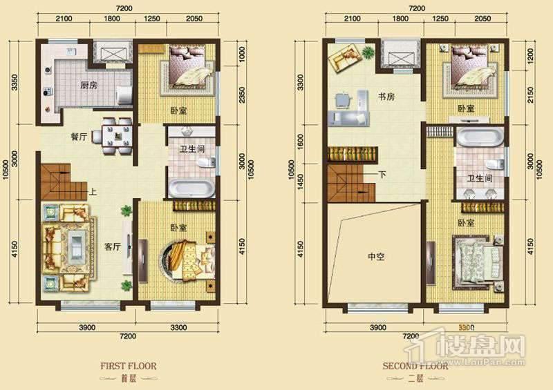 3号楼13-24层L8户型4室2厅2卫1厨