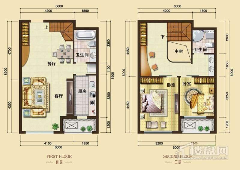 3号楼13-24层L7户型2室2厅2卫1厨