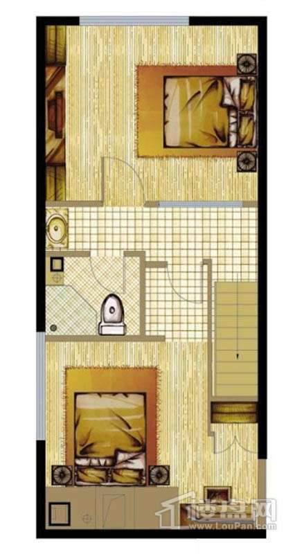 A座标准层D2户型2室1厅1卫1厨 59.30㎡